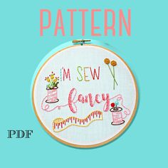 I'm Sew Fancy Embroidery Pattern – The Kitschy Stitcher Sewing Machine Embroidery, Embroidery Patterns, Hand Embroidery, Line Art Images, Digital Pattern, Hand Stitching, Sewing Crafts, Singer, Fancy