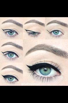 How to put winged eyeliner on