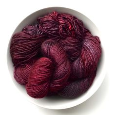 Yarn in a Bowl. pretty color and looks silky shiney