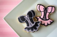 Hand Decorated Corset Sugar Cookies // 1 DOZEN // Bachelorette Party // Valentine's Day. $48.00, via Etsy.