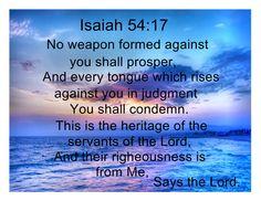 Bildergebnis für jesaja 54 17 english