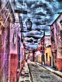 The streets of San Miguel de Allende. The Beautiful Country, Beautiful Places, Little Bit, Street, Art, San Miguel De Allende, Sky, Art Background, Kunst