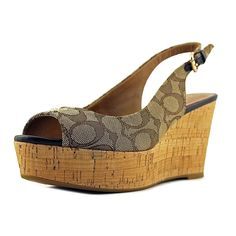 9f41d0f298bc Coach Womens Ferry Peep Toe Casual Platform Sandals