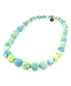 Another great find on #zulily! Lime Medium Bead Stretch Necklace #zulilyfinds