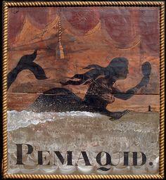 Pemaquid Maine Mermaid - Mermaid Sign Gallery 31 - Mermaid Signs from across the Globe Mermaid Sign, Mermaid Art, Antique Signs, Vintage Signs, Primitive Signs, Pub Signs, Mermaids And Mermen, Folk Art, Antiques