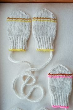 Laura's Loop: Infant Mittens - The Purl Bee - Knitting Crochet Sewing Embroidery Crafts Patterns and Ideas!