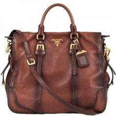 I LOVE PRADA! If I could marry a brand, it would definitely be Chanel, but prada runs a close second! Prada Purses, Prada Bag, Prada Handbags, Purses And Handbags, Handbags Online, Fashion Handbags, Purses Online, Cheap Handbags, Brown Handbags