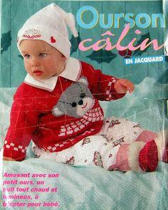 vestidos ychaquetas  con dibujos Crochet Bebe, Knit Crochet, Crochet Hats, Knitting Magazine, Crochet Magazine, Knitting Books, Baby Knitting, Cardigan Bebe, Pull Bebe