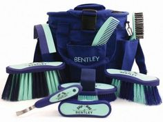 Bentley Horse Grooming Kit in Navy and Mint One like this, except in Navy and red? And maybe a customized one?