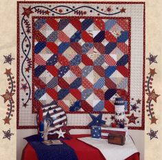 PATTERN FLAG QUILT | Knitting and Crochet Patterns