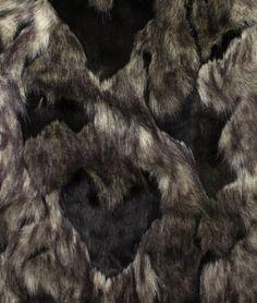 Black Arctic Fox Faux Fur Fabric - $38.55 | onlinefabricstore.net