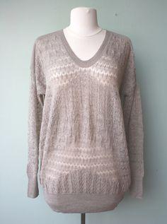 Rebecca Taylor Runway U-Neck Sweater #rebeccataylor #downtown