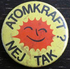 """""""Atomkraft? Nej Tak"""". Campanya en contra de la utilització d'energia nuclear [en suec]"""