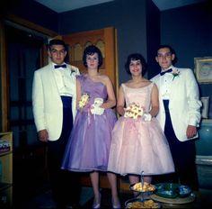 Everyday Life in the Past , 1961 Vintage Prom, Vintage Glamour, Vintage Love, Retro Vintage, Vintage Style, 1950s Prom, Vintage Television, Prom Night, Prom Dresses