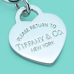"Top of my all time ""wants & wishes"" in this life list -  Please Return To Tiffany & Co. New York Charm"