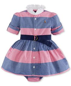 Ralph Lauren Oxford Polo Dress Bloomers Baby Girls Available At