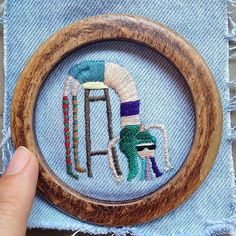 #tb to One of my favorite embroideries from 2015 💘 #embroidery #handembroidery #embroideryhoop #fiberart #instart #illustration #etsy #etsyseller #vsco #vscocam #hoopart