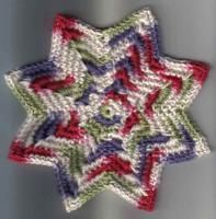 SC 8 Point Round Dishcloth (8x8inches point to point) (2 images) - Free Original Patterns - Crochetville