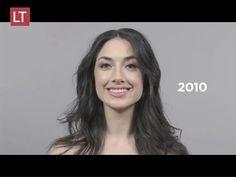 La evolución del estereotipo de belleza en 100 años - YouTube