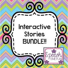 Each story include sequencing images and comprehension worksheets related to the interactive story.  Stories for the following holidays/seasons: -Back to School -Fall -Halloween -Thanksgiving -Christmas -Winter -Valentine's Day -St. Patrick's Day -Spring -Rain -Summer  Speech Time Fun speechtimefun.blogspot.com