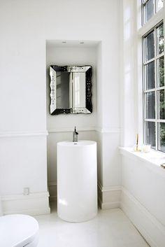 Casinha colorida: Espelhos venezianos nos banheiros e lavabos …