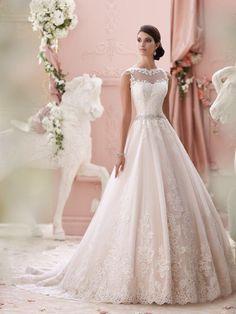 Prinsessen trouwjurk met kant mooie bruidsjurk op maat