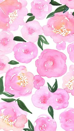 Pink Floral Watercolor Phone Background Works for iPhone 6 iPhone 7 iPhone 6 7 Plus iPhone 5 iP Trendy Wallpaper, Flower Wallpaper, Screen Wallpaper, Cute Wallpapers, Floral Wallpaper Iphone, Interesting Wallpapers, Watercolor Wallpaper Iphone, Perfect Wallpaper, Wallpaper Ideas