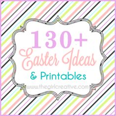 The ULTIMATE Easter Ideas and Printables round up from thegirlcreative.com #easter #printables #crafts
