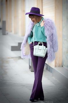 Looking for more Purple fashion & street style ideas? Check out my board: Purple Street Style by Street Style // Purple Fashion // Spring Outfit khoshtrik ring, phillip lim mini mint pashli bag, Purple Fashion, Colorful Fashion, Love Fashion, Autumn Fashion, Style Fashion, Fashion Spring, Fashion 2020, Fashion Outfits, Purple Outfits