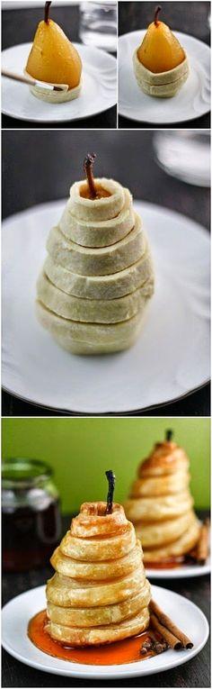 Sweet food - delas e minhas: A experimentar: Folhado de pera