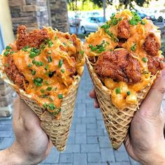 Can you think of a better combination than BUFFALO FRIED CHICKEN, MAC N' CHEESE and even more CHEESE? It's even better when it's all in one package. ⠀ : (Kick N' Chicken Waffle Cone with Mac N' Cheese). : @BruxieWaffles ⠀ ——————————————— @BruxieWaffles will be unveiling this beast at @oozefest on Oct 14! Get your tickets now! ⠀ #foodbeast #oozefest #laeats #nomnomnom #lunch #igfood #yahoofood #goodeats #oceats #ocfoodies #foodie #zagat #vscofood #orangecounty #eatthis #buzzfeedf...