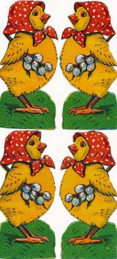 ORIGINAL Oblaten DIE CUT SCRAPS Ostern Easter 4 x Osterkücken Die Cutting, Scrap, Kids Rugs, The Originals, Ebay, Decor, Paper, Easter, Cards