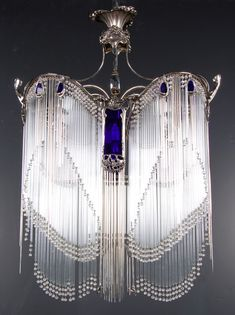 Guimard Chandelier - c. 1908-10 - Design by Hector Guimard (French, 1867-1942) - Art Nouveau - @~ Mlle