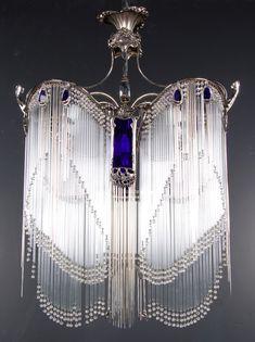 Art Nouveau Hector Guimard chandelier,