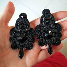 Funky Jewelry, Boho Jewelry, Beaded Jewelry, Jewelery, Jewelry Accessories, Fashion Jewelry, Soutache Necklace, Beaded Earrings, Earrings Handmade
