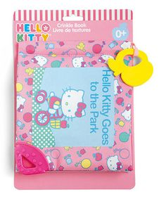 This soft crinkle book for curious sweeties features a variety of textures that they can explore! Complete with chewable corners, a mirror and an attached teething toy that little ones will love to gnaw on, this book is sure to be a plush page turner.