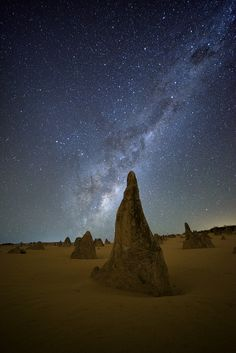 From Above - Some of the clearest skies I've seen, above the mysterious Pinnacles in Western OZ.