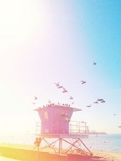 Lifeguard Tower, Reminds me of driving down the PCH ♥