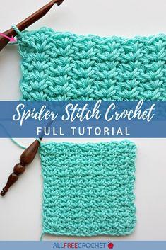 Spider Stitch Crochet (Free Tutorial) Crochet Stitches, Crochet Hooks, Knit Crochet, Crochet Crafts, Yarn Crafts, Crochet Costumes, Halloween Crochet Patterns, All Free Crochet, Halloween Celebration