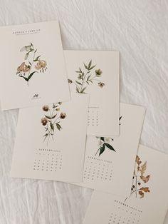 2020 Botanical Calendar pre-orders are here! Creative Calendar, Diy Calendar, Printable Calendar Template, Wall Calendars, Calendar 2020, Kalender Design, Creations, Stationery, Paper Crafts