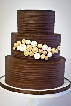 I hate the taste of fondant so I really enjoy a cake that uses frosting as the outside decorative layer. Chocolate frosting is a plus!