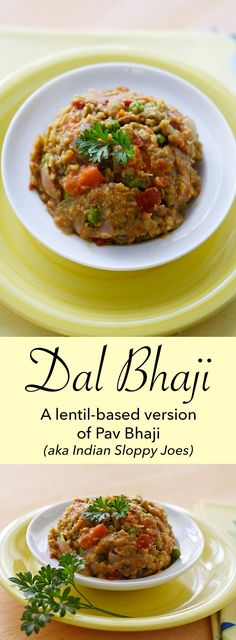 A lentil-based version of Pav Bhaji, a curried vegetable sandwich from Mumbai. Think of it as Indian sloppy joes. Vegan and gluten-free!