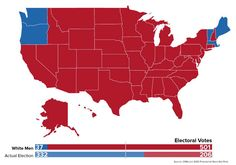 If women weren't allowed to vote ... this is what our electoral college map would have looked like in 2012.