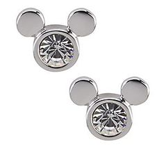 Disney Mickey Mouse Icon Stud Earrings by Arribas | Disney StoreMickey Mouse Icon Stud Earrings by Arribas - Dazzling Mickey Mouse Crystal Icon Earrings by Arribas feature Mickey's head with a Swarovski crystal nestled into a rhodium plate setting and Mickey ears. Setting has ''Disney'' etched along bottom opposite of ears.