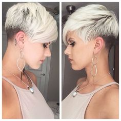 Today we have the most stylish 86 Cute Short Pixie Haircuts. We claim that you have never seen such elegant and eye-catching short hairstyles before. Pixie haircut, of course, offers a lot of options for the hair of the ladies'… Continue Reading → Latest Short Hairstyles, Short Pixie Haircuts, Wedding Hairstyles For Long Hair, New Haircuts, Pixie Hairstyles, Haircut Short, Pixie Haircut For Round Faces, Model Hairstyles, Medium Hair Cuts