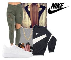 """""""just do  it like nike"""" by bitchgotswagg ❤ liked on Polyvore featuring River Island and NIKE"""
