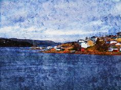 Little Bay by Zinvolle Art Newfoundland And Labrador, Green Bay, Beautiful Landscapes, Summer Days, Notre Dame, Wall Art, Nice, Painting, Paintings