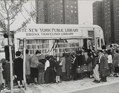 The NYPL Bookmobile in the Bronx, 1950s.
