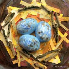 Bird Nests – Painted Paper Art