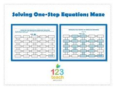 Maze Activity: Solving One-Step Equations by Adding and Subtracting